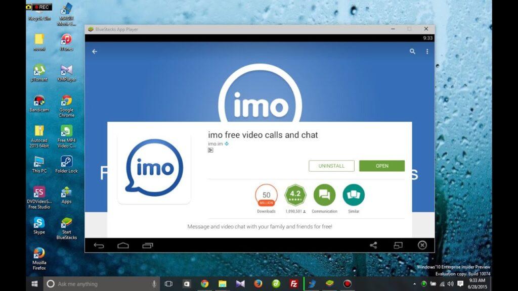Download IMO for PC via Bluestacks