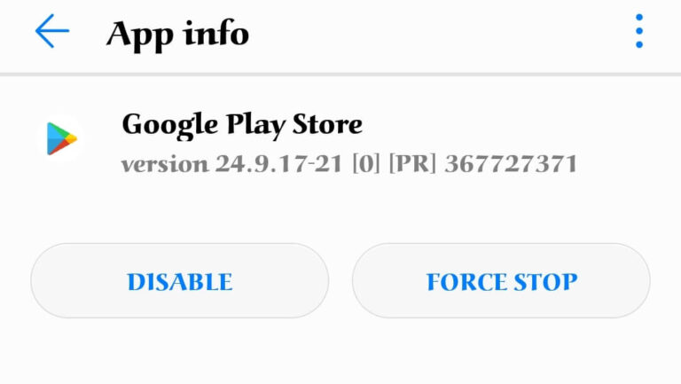 How to Open Google Play Store-by-disabling-the-app