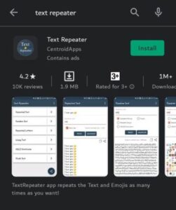 text repeater app