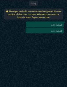 empty text on whatsapp